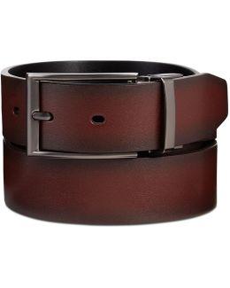 Men's Leather Mahogany Reversible Belt