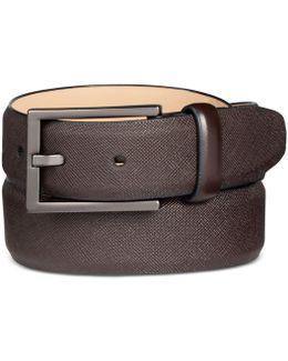 Men's Faux Saffiano Dress Belt