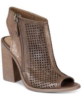 Mason Perforated Block-heel Sandals