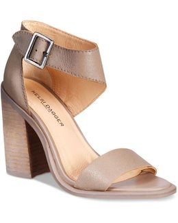 Mayfair City Two-piece Block-heel Sandals