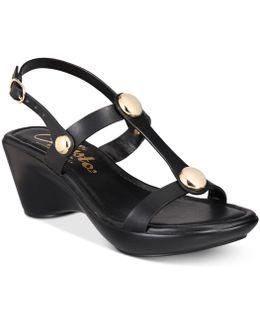 Toggle Wedge Sandals