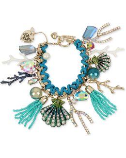 Gold-tone Multi-charm Toggle Bracelet