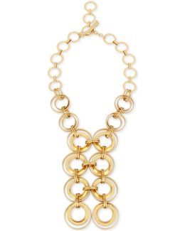 Gold-tone Multi-circle Statement Necklace