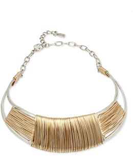 Two-tone Wrapped Collar Necklace