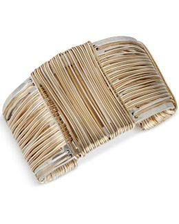 Wire-wrapped Sculptural Cuff Bracelet