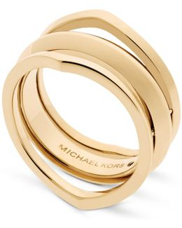 Gold-tone Triple Band Ring