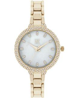 Women's May Gold-tone Bracelet Watch 34mm