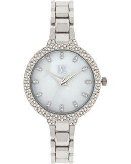 Women's May Silver-tone Bracelet Watch 34mm