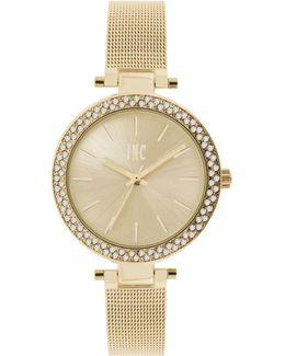 Women's Silver-tone/gold-tone Stainless Steel Mesh Bracelet Watch 36mm In035g