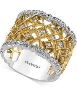 Diamond Two-tone Ring (3/4 Ct. T.w.) In 14k Gold And White Gold
