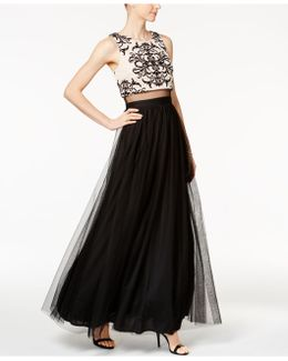Tattoo Popover Mesh Gown