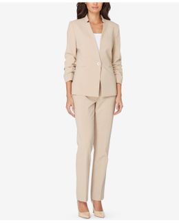 Ruched-sleeve Pantsuit