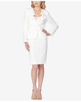 Ruffled Skirt Suit