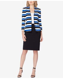 Striped Skirt Suit