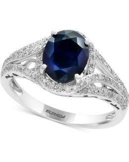 Sapphire (1-9/10 Ct. T.w.) & Diamond (1/3 Ct. T.w.) Ring In 14k White Gold