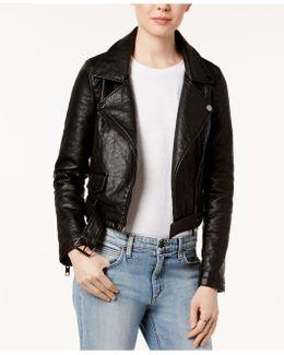 Faux-leather Moto Jacket