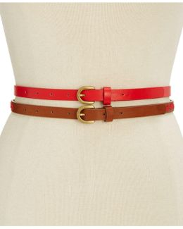 Embroidered 2-for-1 Belt