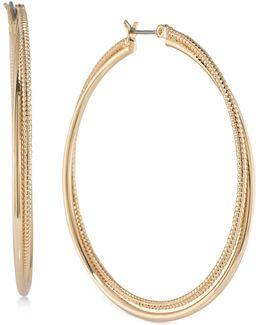Gold-tone Double Hoop Earrings