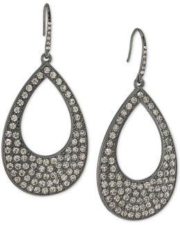 Pavé Open Drop Earrings
