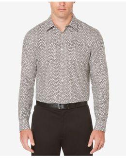Big & Tall Men's Oxford Floral-print Cotton Shirt