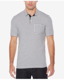 Men's Multi-striped Pique Cotton Polo