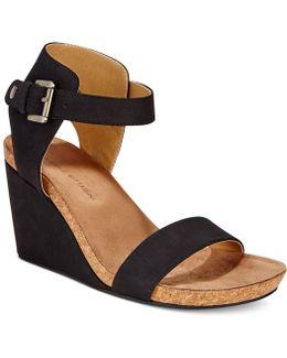 Ted Ankle Platform Wedge Sandals