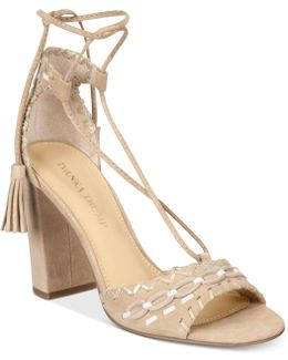 Karita Lace-up Block-heel Sandals