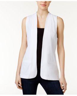 Pleated-back Vest