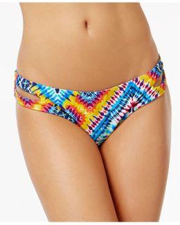 Surfside Reversible Cutout Printed Bikini Briefs