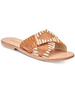 Crown Flat Sandals