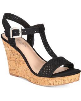 Law Strappy Platform Wedge Sandals