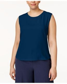 Plus Size High-low Shell