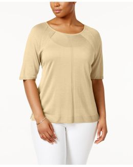 Plus Size Scoop-neck Sweater