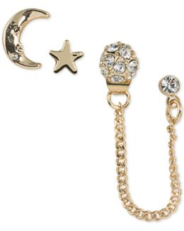 Gold-tone 3-pc. Set Crystal Stud Earrings