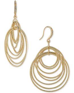 Gold-tone Multi-ring Drop Earrings