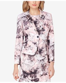Printed Scuba Floral Jacket
