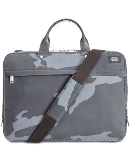 Men's Camo Waxwear Slim Briefcase
