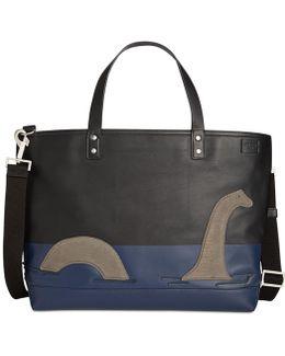 Men's Loch Ness Monster Leather Coal Bag