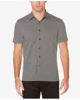Men's Big & Tall Micro Diamond Dot Cotton Shirt