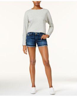 The Markie Frayed Cuffed Denim Shorts