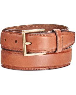 Men's Stitched Leather Belt