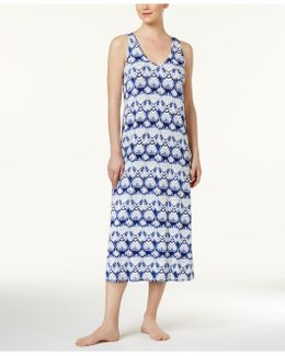 Racerback Printed Knit Nightgown