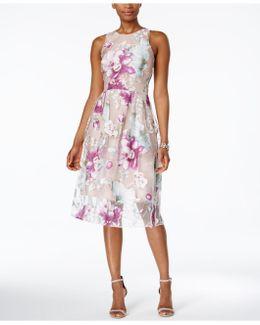 Floral-print Fit & Flare Dress