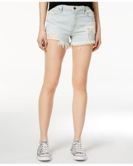 Charlie Cotton Ripped Denim Shorts