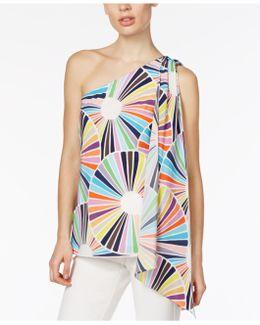 Ezmeralda One-shoulder Asymmetrical Silk Top