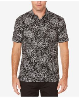 Men's Geometric Web Cotton Shirt