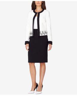 Lace-trim Skirt Suit