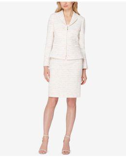 Tweed Fringe Skirt Suit