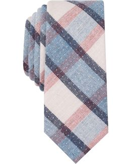 Men's Loker Plaid Slim Tie