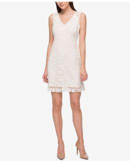 Lace Fringe A-line Dress